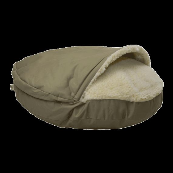 Cozy Cave Luxury Dog bed Khaki