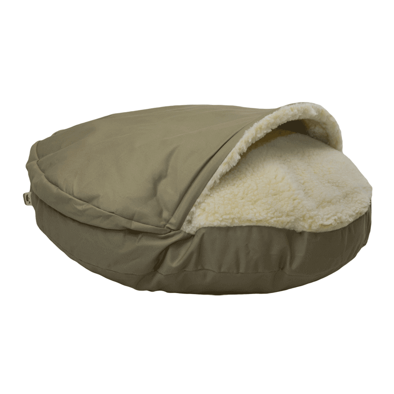 Cozy Cave Luxury Dog bed Khaki