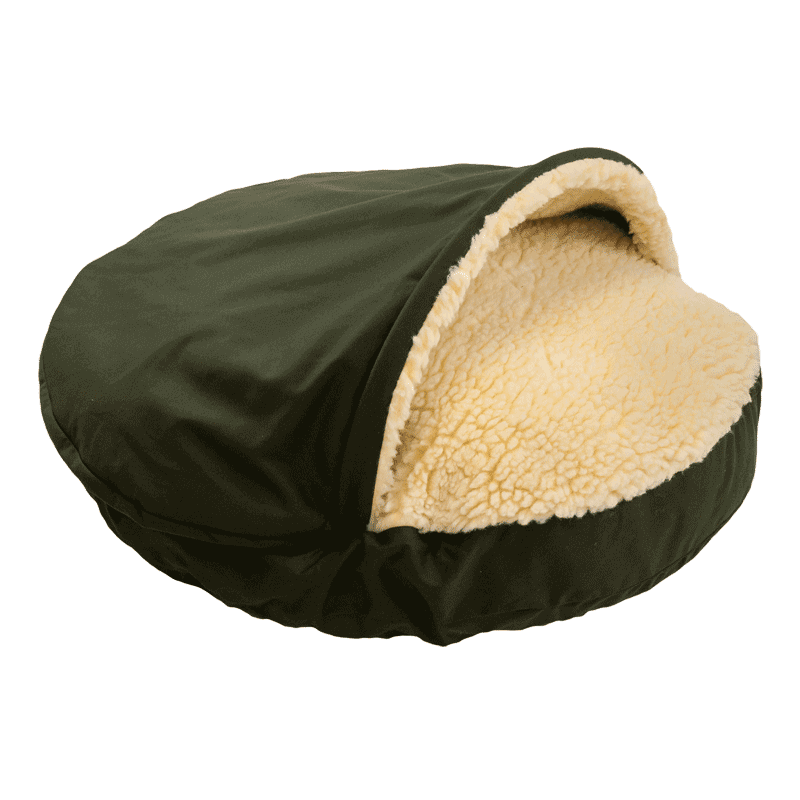 Cozy Cave Luxury Dog bed Olive