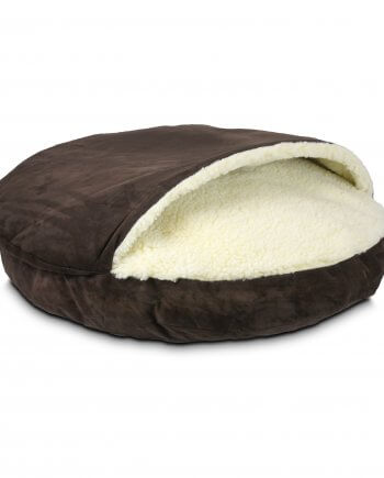 Cozy Cave Luxury Dog Hot Fudge Color