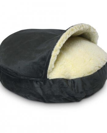 Cozy Cave Large - Anthracite - Luxury Microsuède - 89 cm
