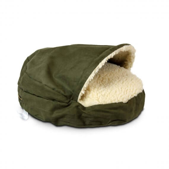 Cozy Cave Small - Olive - Luxury Microsuède - 63 cm
