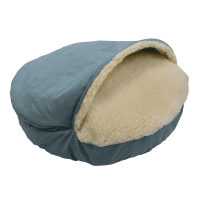 Luxury-Cozy-Cave-Dog-Bed-with-Microsuede-aqua