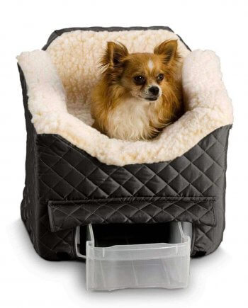 Snoozer Lookout II Pet Car Seat - Black - Small (tot 8 kg) met opberglade