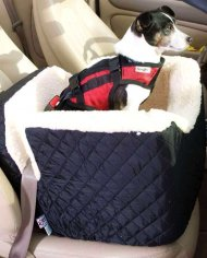 Snoozer Lookout I Pet Car Seat – Black – Small (tot 8 kg)