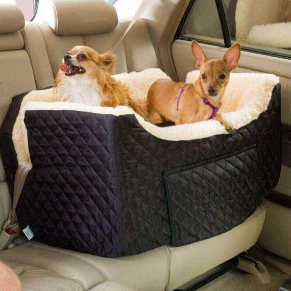 Snoozer Lookout I Pet Car Seat - Black - Small (tot 8 kg)