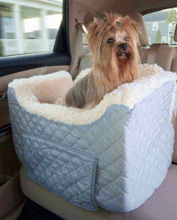 Snoozer Lookout II Pet Car Seat - Grey - Small (tot 8 kg) met opberglade