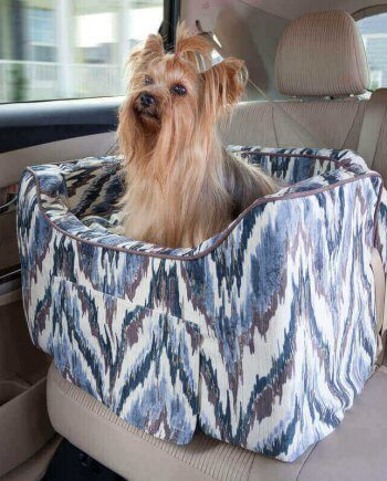 Snoozer Lookout II Pet Car Seat - Luxury Tempest Indigo - Small (tot 8 kg) met opberglade