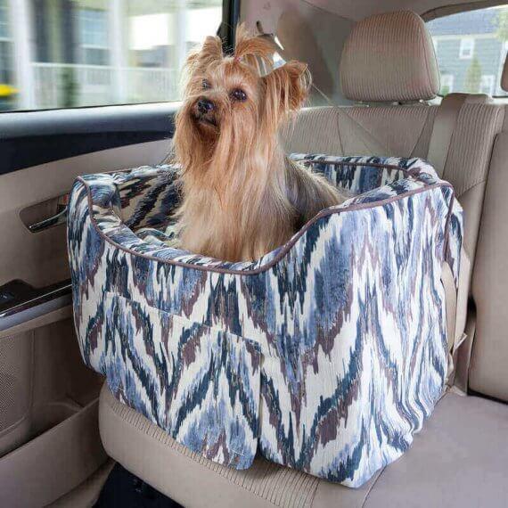 Snoozer Lookout II Pet Car Seat - Luxury Tempest Indigo - Small (tot 8 kg) met opberglade