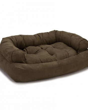 Snoozer Pet Products - Luxe Overstuffed Sofa Hondenbed - Dark Chocolate