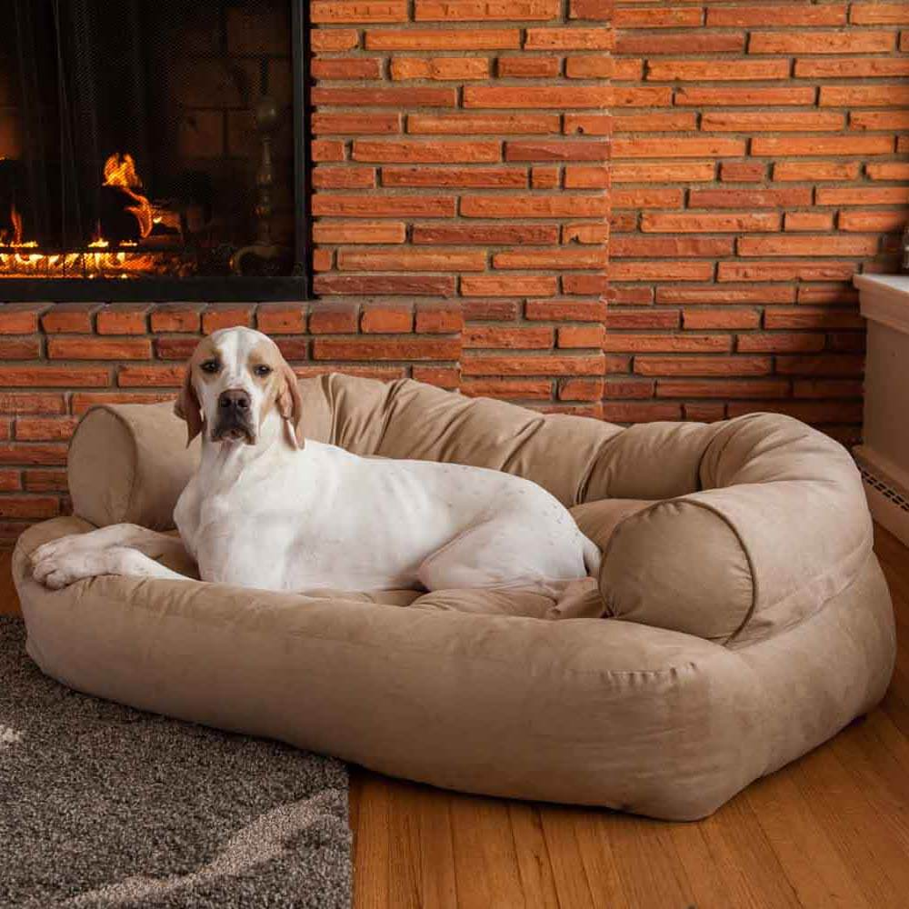 Snoozer Pet Products Luxe Overstuffed Sofa Hondenbed Peat