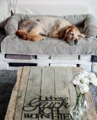 Snoozer Bolstered Sofa Throw – Hondenbed voor op de bank – Storm