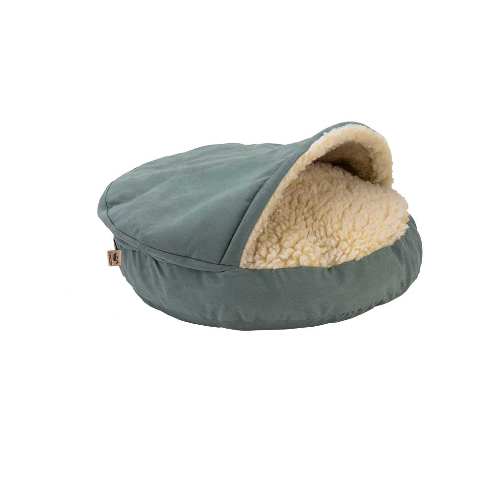 Cozy Cave Large - Luxury Microsuede - Aqua - 89 cm