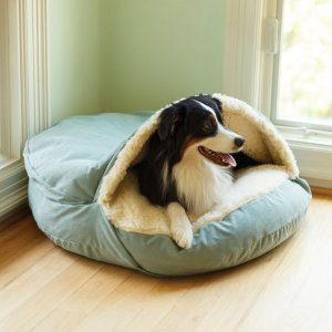 Luxury Cozy Cave Dog Bed with microsuede